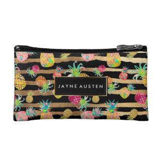 PixDezines Aloha Pineapples/DIY background color Makeup Bag