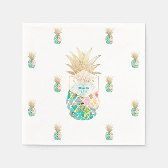 PixDezines Aloha Pineapples/DIY background Disposable Napkin