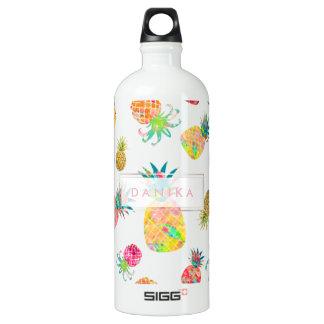 PixDezines Aloha Pineapples/DIY background Water Bottle