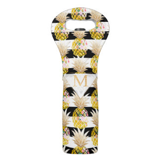 PixDezines Aloha Pineapples/DIY background Wine Bag