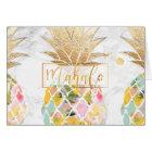 PixDezines Aloha Pineapples/Mahalo Card
