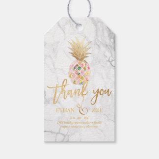 PixDezines Aloha Pineapples/Marble Gift Tags
