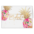 PixDezines Aloha Pineapples/Pink/Mahalo Card