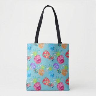 PixDezines Aloha Pineapples Watercolor/DIY Color Tote Bag