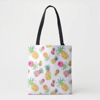 PixDezines Aloha Pineapples Watercolor Tote Bag