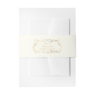 PixDezines antique scrolls/DIY color+font Invitation Belly Band