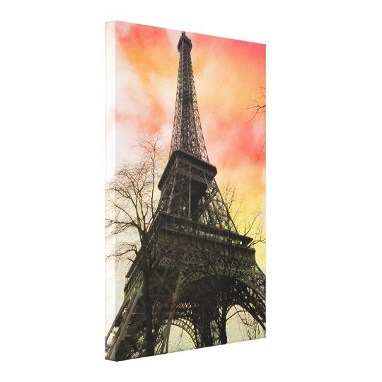 PixDezines autumn paris, eiffel tower Canvas Print