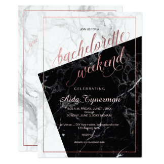 PixDezines Bachelorette Weekend Faux Rose Gold Card