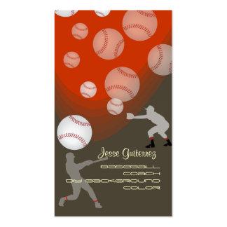 PixDezines baseball coach/diy background color! Business Card