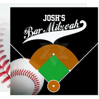 PixDezines baseball diamond/ Bar Mitzvah 13 Cm X 13 Cm Square Invitation Card