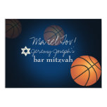 PixDezines basketball bar mitzvah/DIY colour 13 Cm X 18 Cm Invitation Card