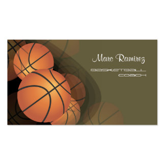PixDezines Basketball Coach/DIY background color Business Cards