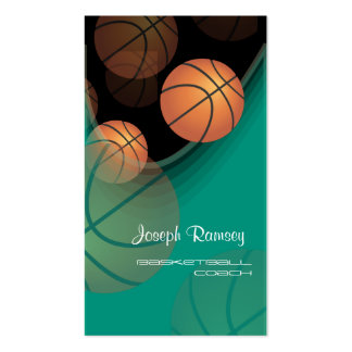 PixDezines Basketball Coach/DIY background color Business Card Templates