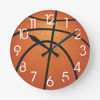 PixDezines Basketball Wall Clock/DIY Font Round Clock
