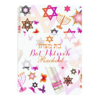 PixDezines bat mitzvah/collage 13 Cm X 18 Cm Invitation Card