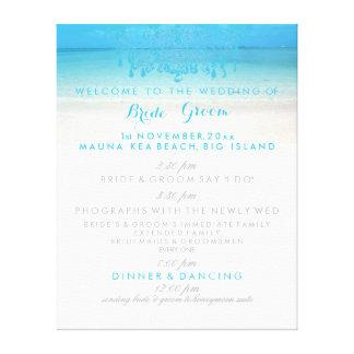 PixDezines beach/chandelier wedding program Gallery Wrapped Canvas
