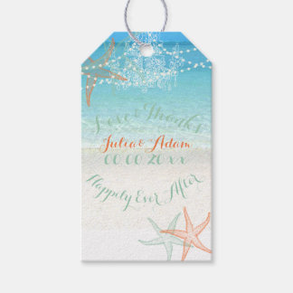 PixDezines beach/chandeliers/starfish Gift Tags