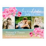 PixDezines beach+pink maui orchids save the date Postcard
