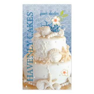 PixDezines Beach Wedding Cake/DIY background color Business Cards