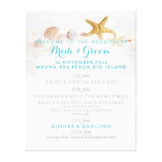 PixDezines beach wedding program Gallery Wrap Canvas