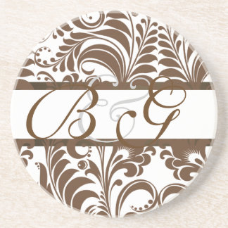 PixDezines Bellissimo Damask, Custom Color!! Coasters