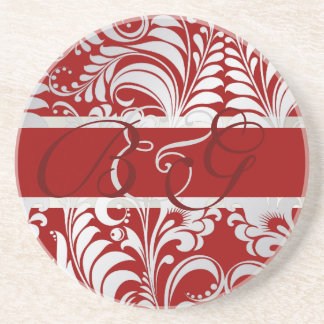 PixDezines Bellissimo Damask, Custom Color!! Drink Coasters