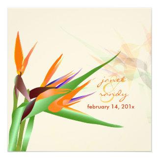 PixDezines Bird of Paradise/diy fonts+colors Personalized Announcements