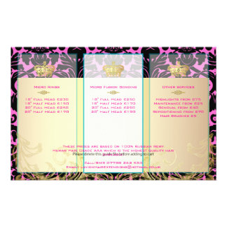 PixDezines black flora damask/diy backgorund color 14 Cm X 21.5 Cm Flyer