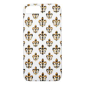 PixDezines black gold fleur de lis/DIY background iPhone 7 Case
