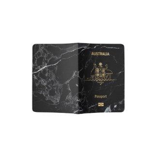 PixDezines Black Marble, Australian Passport Holder