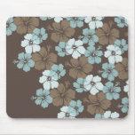 PixDezines blue hibiscus/diy background Mousepad