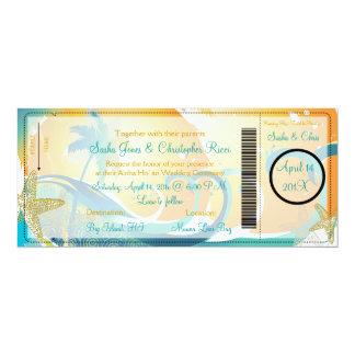 PixDezines Boarding Pass+Waves 10 Cm X 24 Cm Invitation Card