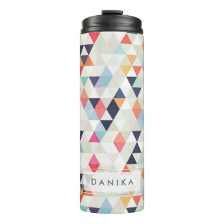 PixDezines Boho Watercolor Geometric/Triangles Thermal Tumbler