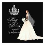 PixDezines bridal brunch/DIY occasion+colour 13 Cm X 13 Cm Square Invitation Card
