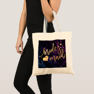 PixDezines Bridesmaid/Faux Gold Script/DIY bckgrnd Tote Bag