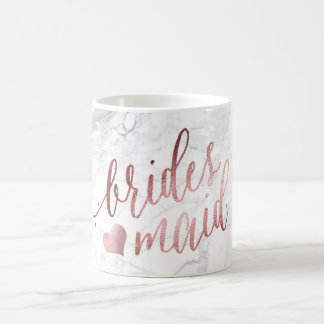 PixDezines Bridesmaid/Faux Rose Gold/Modern Script Coffee Mug