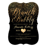 PixDezines Brunch & Bubbly Dazzled in Gold 13 Cm X 18 Cm Invitation Card