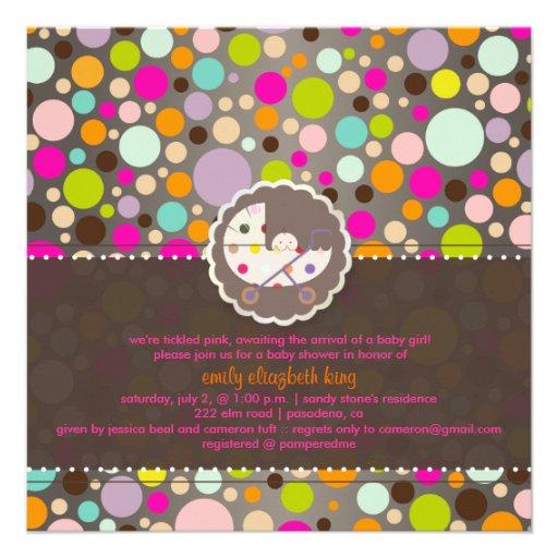 PixDezines bubble gum/baby shower/DIY Custom Invite