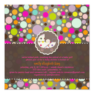 PixDezines bubble gum/baby shower/DIY 13 Cm X 13 Cm Square Invitation Card