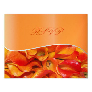 PixDezines burnt orange calla lily Custom Invites