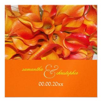 PixDezines burnt orange calla lily Personalized Announcements