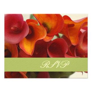 PixDezines burnt orange calla lily Custom Invitations