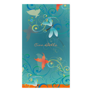 PixDezines butterflies+dragonflies Business Card Templates