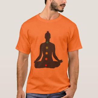 PixDezines Chakra Meditation orange t-shirt