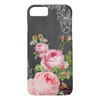 PixDezines chalkboard/vintage roses iPhone 8/7 Case