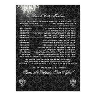 PixDezines chandelier/desiree damask/program 17 Cm X 22 Cm Invitation Card