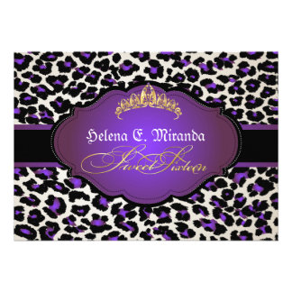 PixDezines cheetah+tiara sweet sixteen Announcement
