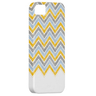 PixDezines Chevron Blue+Yellow Barely There iPhone 5 Case