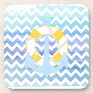 PixDezines chevron/nautical/watercolor Coaster