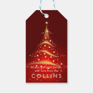 PixDezines Christmas Tree/Faux Gold Gift Tags